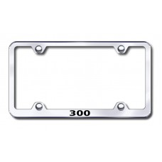 300 Name Wide Body Laser Etched Chrome Metal License Plate Frame