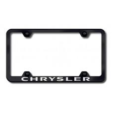 Chrysler Wide Body Laser Etched Black Metal License Plate Frame