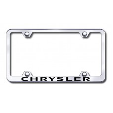 Chrysler Wide Body Laser Etched Chrome Metal License Plate Frame