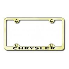 Chrysler Wide Body Laser Etched Gold Metal License Plate Frame
