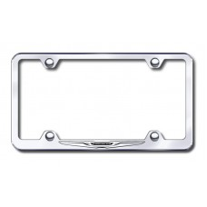 Chrysler Logo Laser Etched Wide Body Stainless Steel License Plate Frame