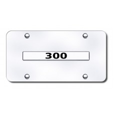 300 Name (ONLY) Chrome on Chrome License Plate