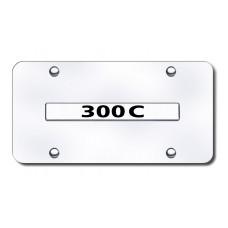 300C Name Chrome on Chrome License Plate