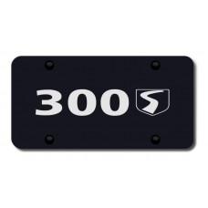 300S Name Laser Etched Black License Plate
