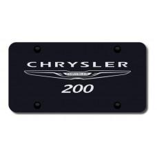 Chrysler 200 Name & Logo Laser Etched on Black License Plate