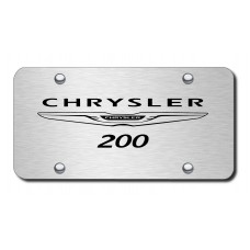 Chrysler 200 Name & Logo Laser Etched on Brushed Stainless License Plate