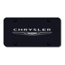 Chrysler (NEW) Name &Logo Laser Etched Black License Plate