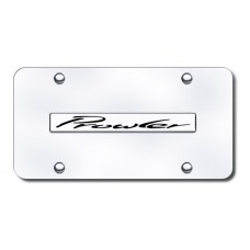 Prowler Name Chrome on Chrome License Plate