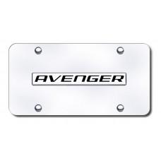 Avenger Name Chrome on Chrome License Plate