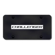 Challenger Name Chrome on Black License Plate