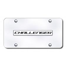 Challenger Name Chrome on Chrome License Plate