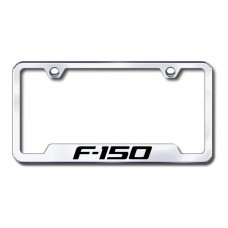F150 Laser Etched Chrome Cut-Out License Plate Frame