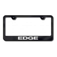 Edge Laser Etched Black License Plate Frame