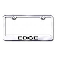 Edge Laser Etched Chrome Metal License Plate Frame