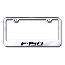 F-150 Laser Etched Chrome Metal License Plate Frame