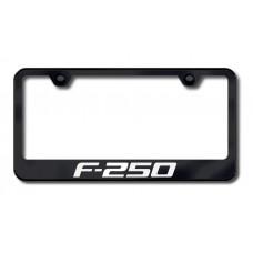 F-250 Laser Etched Black License Plate Frame