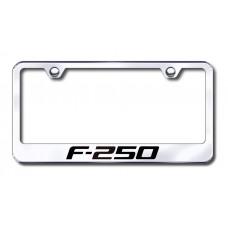 F-250 Laser Etched Chrome Metal License Plate Frame