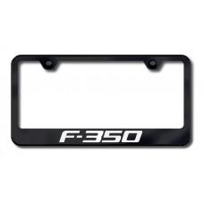 F-350 Laser Etched Black License Plate Frame