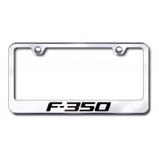 F-350 Laser Etched Chrome Metal License Plate Frame