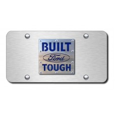 Built Ford Tough Brushed Stainless Steel Plate
