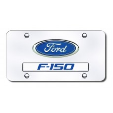 Dual Ford F150 Chrome on Chrome License Plate