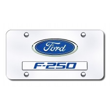 Dual Ford-F250 Chrome on Chrome License PLate