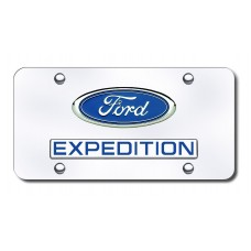 Dual Expedition Chrome on Chrome License Plate