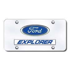 Dual Explorer Chrome on Chrome License Plate
