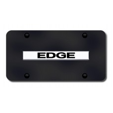 Edge Name Chrome on Black License Plate