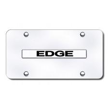 Edge Name Chrome on Chrome License Plate