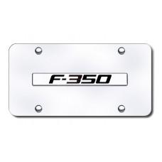 F-350 Name Chrome on Chrome License Plate
