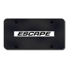 Escape Name Chrome on Black License Plate