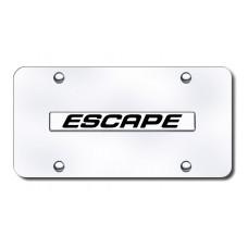 Escape Name Chrome on Chrome License Plate