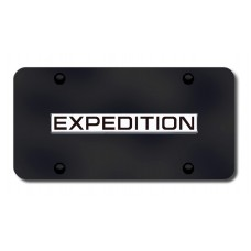 Expedition Name Chrome on Black License Plate