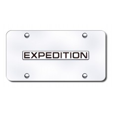 Expedition Name Chrome on Chrome License Plate