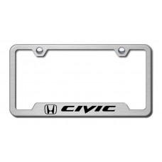 Civic Laser Etched Brushed Stainless Cut-Out Frame