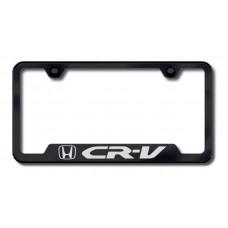 CRV Laser Etched Cut-Out Black License Plate Frame