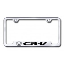 CRV Laser Etched Chrome Cut-Out License Plate Frame