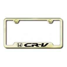 CRV Laser Etched Gold Cut-Out License Plate Frame