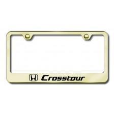 Crosstour Laser Etched Gold License Plate Frame