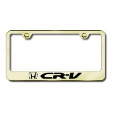 CRV Laser Etched Gold License Plate Frame