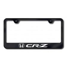 CRZ Laser Etched Black License Plate Frame