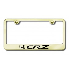 CRZ Laser Etched Gold License Plate Frame