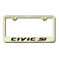 Civic SI Laser Etched Gold License Plate Frame