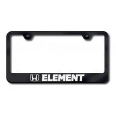Element Laser Etched Black License Plate Frame