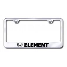 Element Laser Etched Chrome License Plate Frame