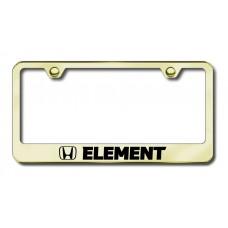 Element Laser Etched Gold License Plate Frame