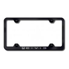 Civic (Reverse C) Wide Body Laser Etched Black License Plate Frame