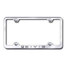 Civic (Reverse C) Wide Body Laser Etched Chrome License Plate Frame
