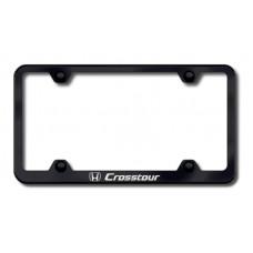 Crosstour Laser Etched Wide Body Black License Plate Frame